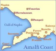 Map of Gulf of Naples