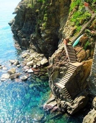 Seaside steps