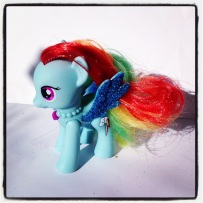 Rainbow Dash, the Moo's latest acquisition