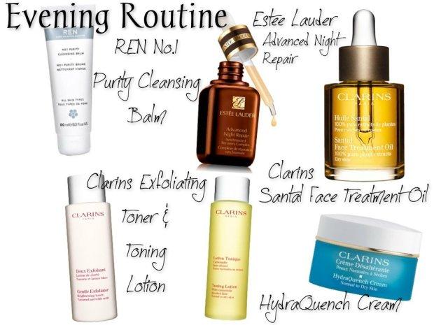 Evening skincare routine
