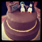The cake made by the bride!!