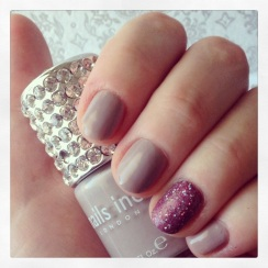 Nails of the day with Nails Inc Porchester Square