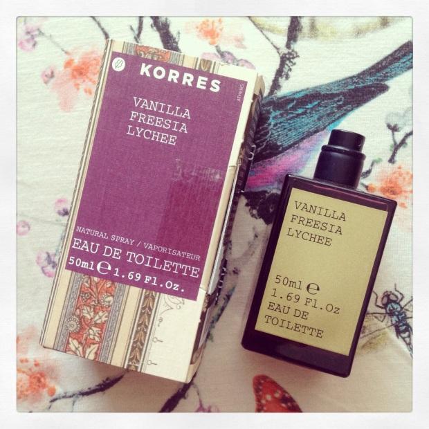 Korres Vanilla Freesia Lychee fragrance