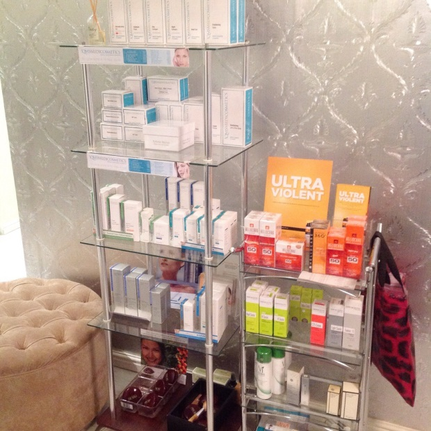 The cosmeceutical products on sale, including the Dermaceutic range